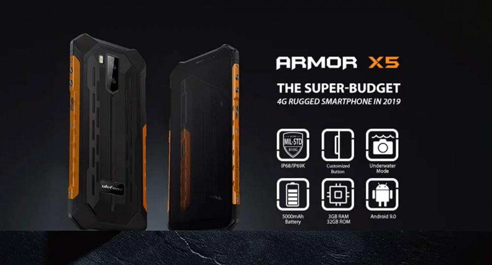Ulefone представила защищенный смартфон - Armor X5