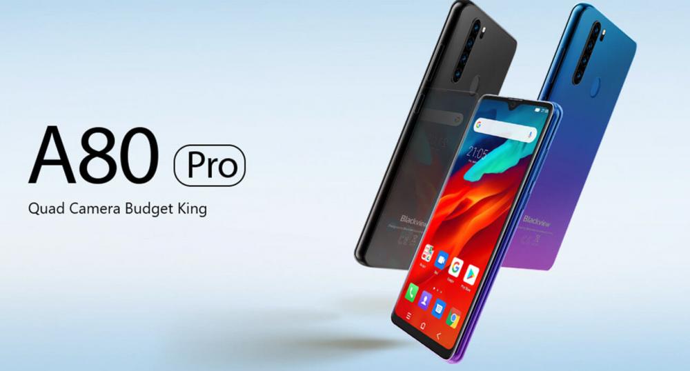 Blackview A80 Pro - один из самых недорогих смартфонов с 4 камерами