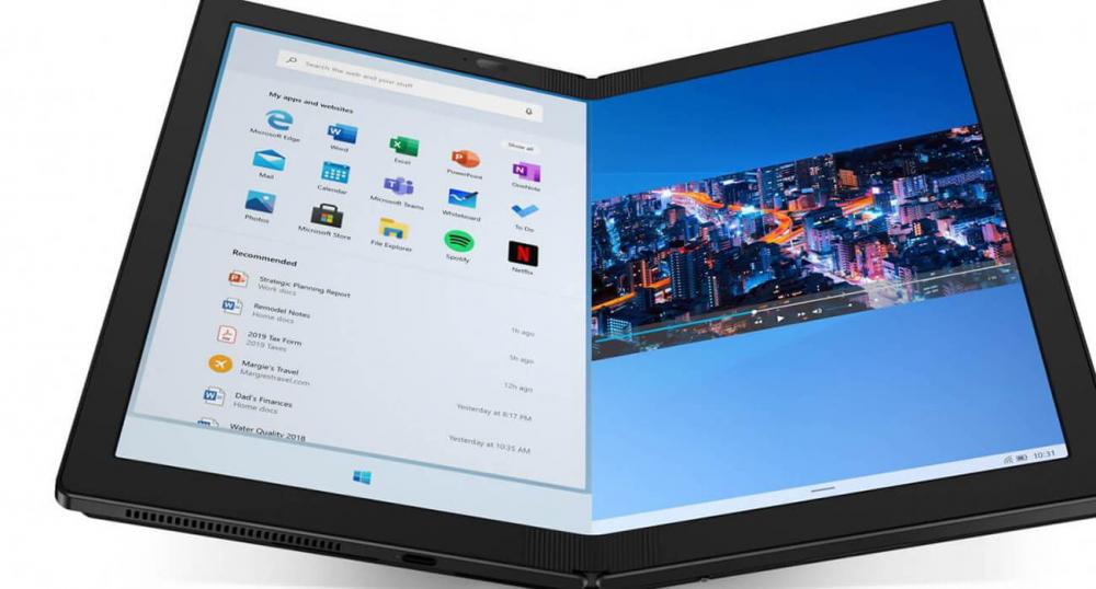 Первый ноутбук со сгибаемым дисплеем от Lenovo