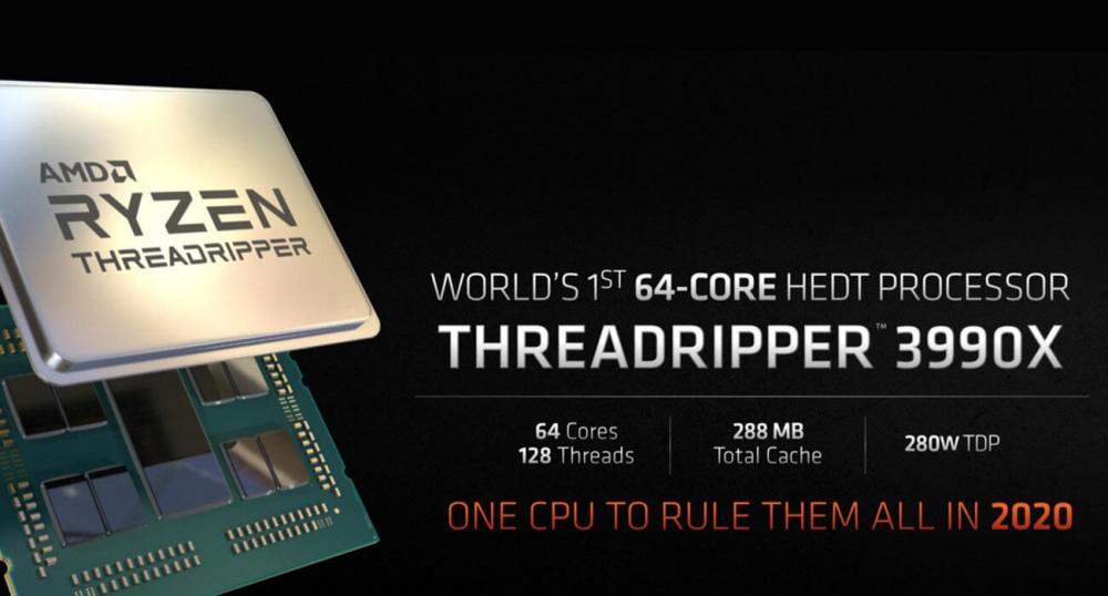 Ryzen Threadripper 3990X: 64-х ядерный процессор от AMD