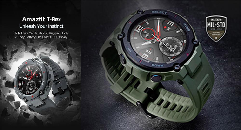 Защищенные смарт-часы Amazfit T-Rex